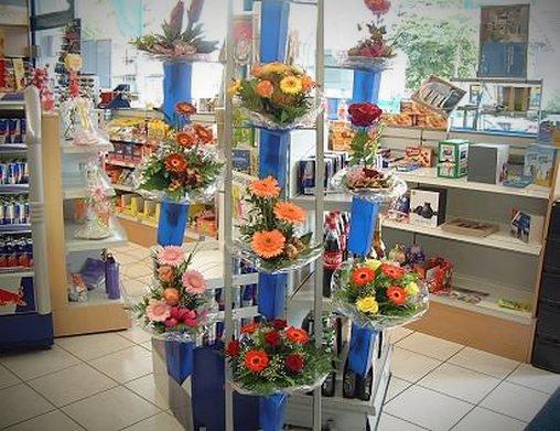 Blumen von der Tankstelle