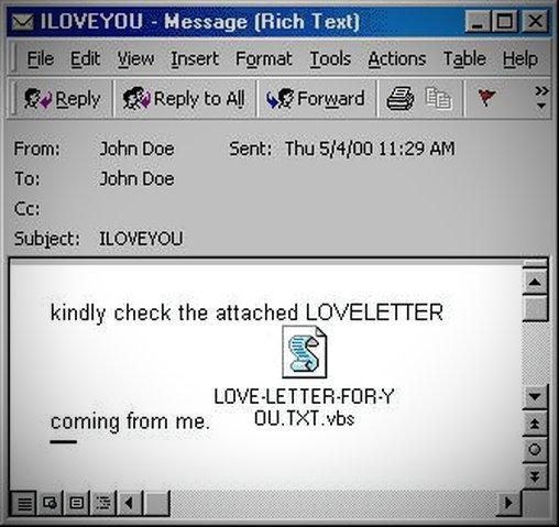 Liebesbrief vom Computer