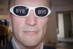 Brille sagt auf Wiedersehen