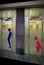 Toilettenschilder in XXL – da kann wirklich nichts schiefgehen
