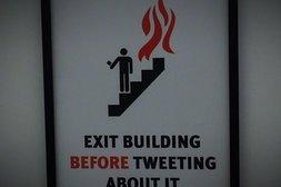 Nicht tweeten, nur abhauen