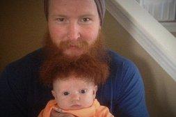 Bart-Perrücke für das Baby