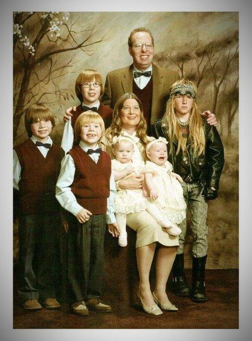 Familienfoto - Aus dem Allgemeinbild hervorstechen