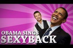 "Obama singt Justin Timberlake's ""Sexy Back"""