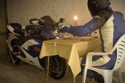 Candle Light Dinner mit dem Bike