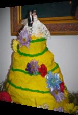 Ein sehr missglückter Hochzeitskuchen