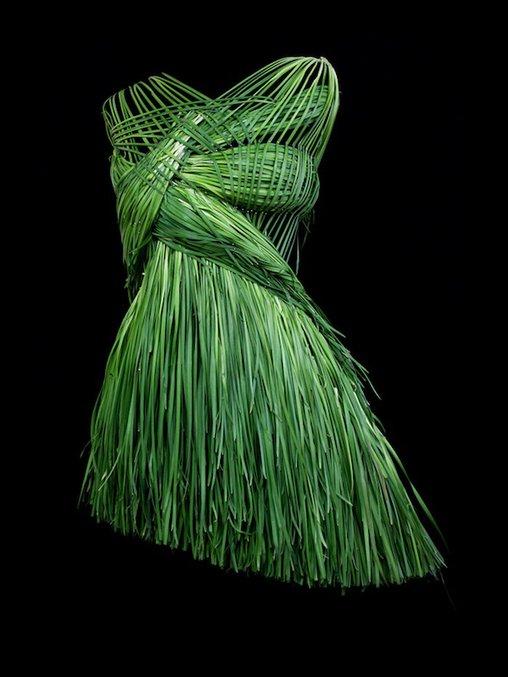 Zahlreiche Grashalme fügen sich zu einem Kleid zusammen