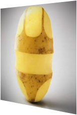Auch eine gute Idee: Der Kartoffel ein sexy Outfit verpassen.