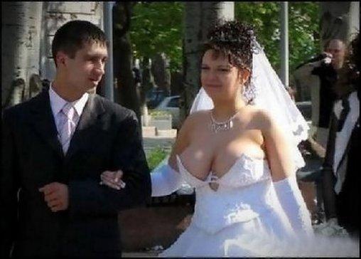 Hochzeitskleid für viel Busen