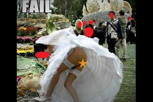 Hochzeitskleid ohne Unterwäsche
