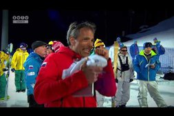Roboter gegen Skiläufer