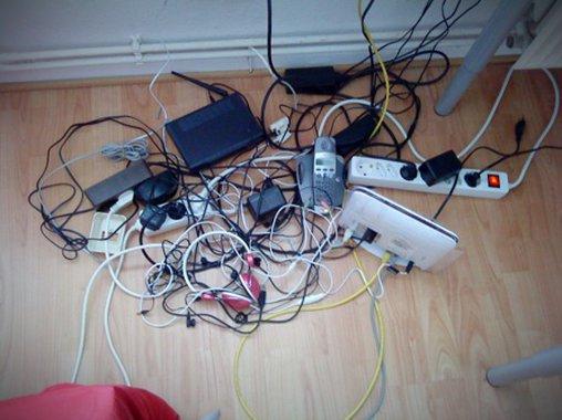 So viele WLAN Kabel im Einsatz